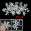 3 Pcs Christmas Xmas Tree Plastic Snowflake Hanging Ornament Craf...