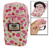 Phone Coins Holder Pink Floral Zipper Stretch Wristband Pouch