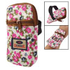 Allover Fuchsia Flower 2 Compartments Wrist Bag Pouch for Mobile ...