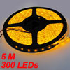 Auto Car Waterpoof 5M 5050 SMD LED Strip Yellow Light 300 LEDs 12...