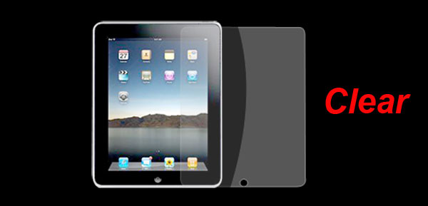 Protective Plastic Clear Screen Guard Film for Apple iPad 1G