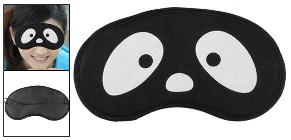 White Eyes Pattern Black Eyeshade Eye Cover Sleeping Aid