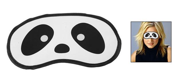 Black White Panda Eyes Pattern Sleep Eyeshade Cover Mask