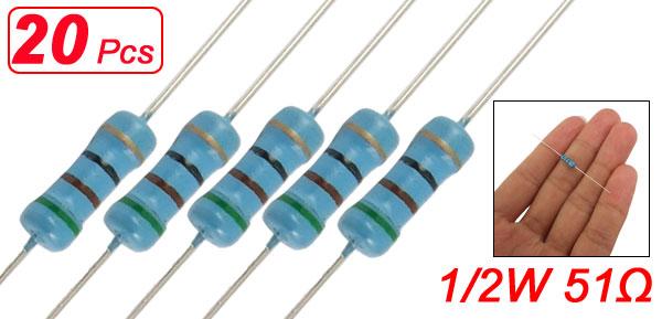 20 x 1/2W Watt 51 ohm 240R Carbon Film Resistor 0.5W