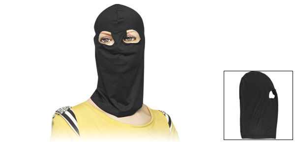 Stretchy Black Cycling Ski Double Hole Mask Balaclava for Lady Men