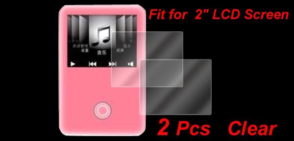 2 Pcs 2 inch LCD Screen Protector Guard for DV DC Camera GPS