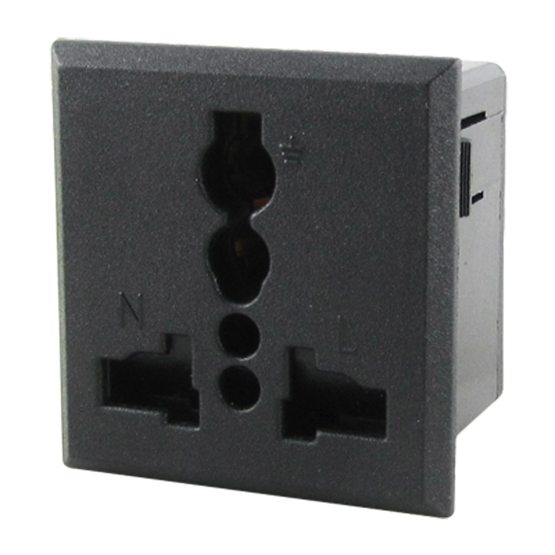 AC-250V-13A-Universal-US-UK-EU-AU-Panel-Power-Socket-Outlet-Black