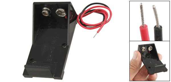 Replacement 9V Battery Box Case Holder Connector