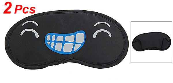 Cartoon Grins Eyes Pattern Sleep Aid Eyeshade Eye Mask 2 Pcs
