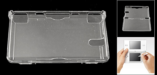 Clear Hard Plastic Protective Case Cover Guard for Nintendo DS NDS Lite