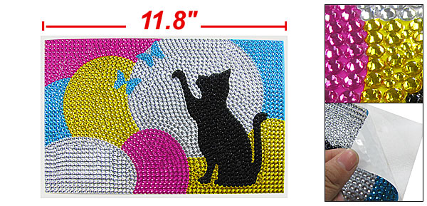 Colorful Plastic Crystal Decorative Art 3D Sticker for 13.3