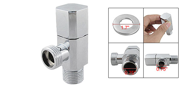 Zinc Alloy Four Side Octagonal Body Water Control Angle Valve