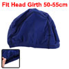 Woman Men Polyester Elastic Swimming Swim Hat Cap Navy Blue
