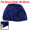 Women Men Polyester Stitched Stretchy Swimming Headband Cap Hat D...