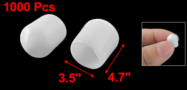 1000 x White Soft Plastic RCA Plug Protector Cap Cover for DVD Amplifier