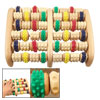Foot Colorful Wheels Wooden Roller Relax Stress Relief Massager B...