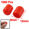 1000 x Red Soft Plastic RCA Plug Cover Cap for DVD Amplifier AV R...
