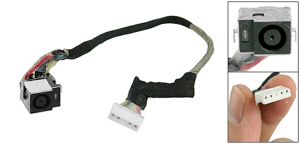 Laptop DC Power Supply Jack Plug Cable Wire for HP Pavilion DV7 Series