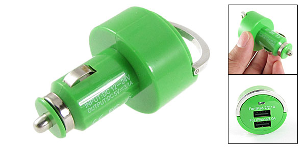 DC 12V-24V Green Car Charger Power Adapter