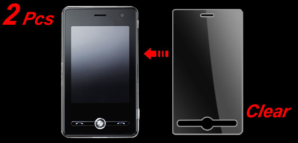 2 Pcs Transparent LCD Screen Guards Protectors for LG KS20