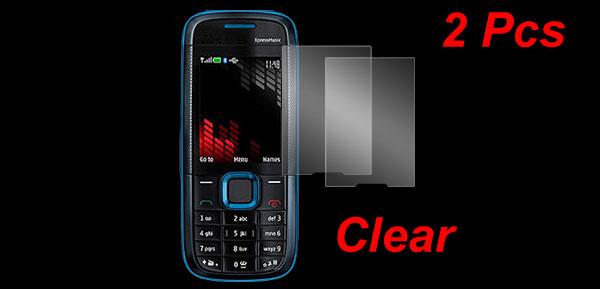 2 Pcs Clear Plastic LCD Screen Protectors for Nokia 5130