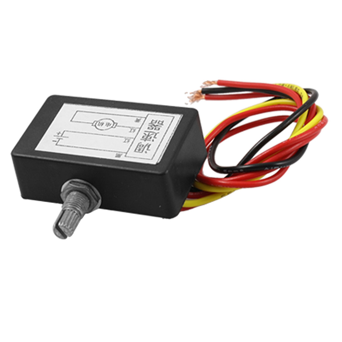 DC 24V 4 Wires Electric Gear Motor Speed Controller Black
