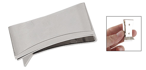 Glossy Stainless Steel Cash Money Receipts Clip Credit Card Holder