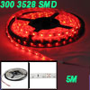 5M Red Lamp 3528 SMD Type 300 LEDs Bulb Adhesive Back Light Strip...