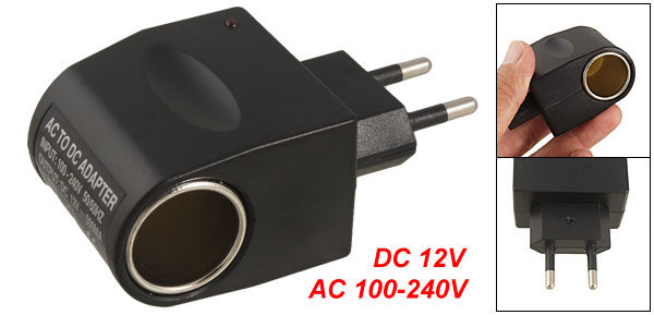 Black AC 100-240V to DC 12V 500mA Power Adapter Converter EU Plug