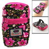Universal Cell Phone Zip up Colorful Flower Print Bag Holder