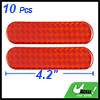 10 Pcs Red Car Auto Self Adhesive Safety Reflective Stickers