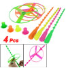 4 Pcs Plastic Spinning Shooter Colorful Flying Disc Toys for Chil...