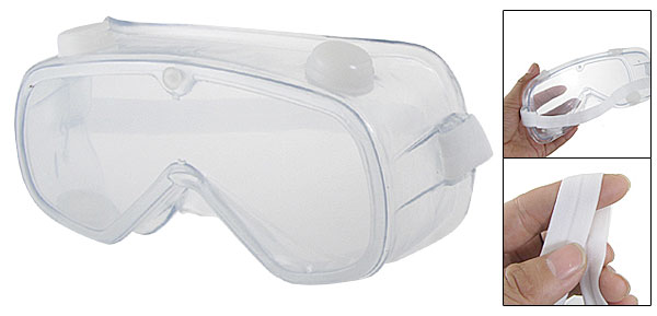 Clear Anti Dust Soft Plastic Protective Lab Glasses Goggles