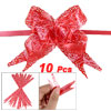 Rose Print Christmas Decoration Gift Wrap Red Pull Bow Ribbon 10 ...