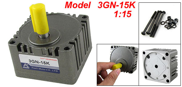 1:15 Ratio Motor Speed Control Reduction Gearbox Gear Head 3GN-15K