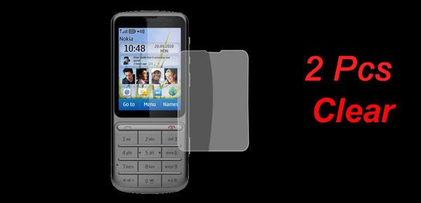2 Pcs Clear Plastic Anti-scratch LCD Screen Film Guard for Nokia C3-01