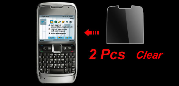 2 Pcs Protective Replacement LCD Screen Clear Film Guard for Nokia E71
