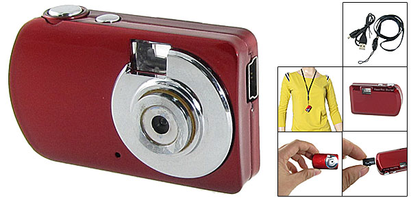 1.3MP Mini High Definition DV Camera Video Recorder DVR PC Webcam 1280 x 960 Red