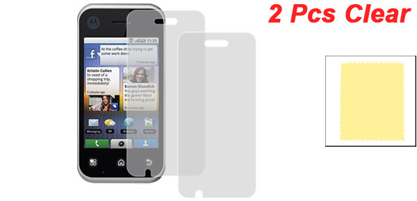 2 x Clear LCD Protector Screen Guard Film for Motorola Backflip ME600