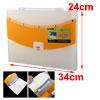 White Orange 13 Compartments Plastic Doc...