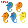 5 Pcs Tricolor Plastic Floating Seahorse Fish for Aquarium