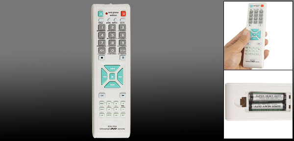 Audio Video Player DVD Universal Remote Control Controller White