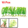 Fish Tank Aquarium Green Plastic Decorative Grass Plants 10 Pcs