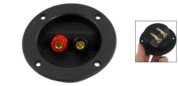 Black Round Plastic Speaker Binding Post Terminal Board