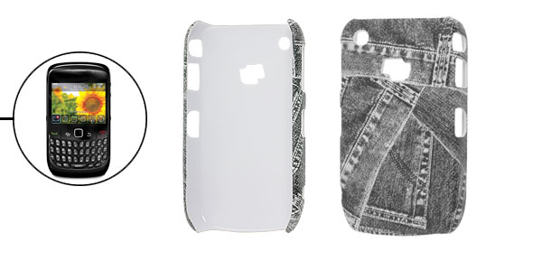 Black Jeans Print Plastic Hard Back Cover Case for Blackberry 8520