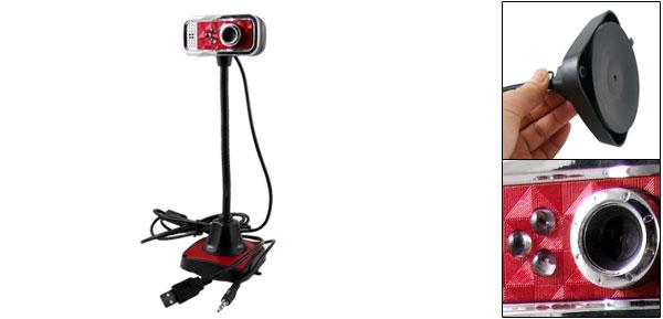 PC Computer Notebook 3.5mm USB 2.0 Microphone Mic Web Cam Webcam Camera