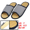 Men Antislip Sole Opne Toe White Dark Blue Woven Print Slippers U...