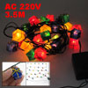 EU Plug Christmas Tree Looped Xmas Gift Colors Light String Lamp
