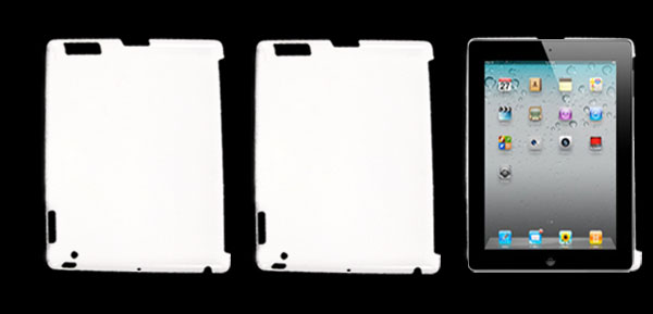 Rubberized Hard Plastic Back Case Cover White for Apple iPad 2