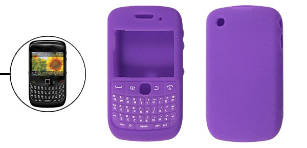 Purple Zigzag Silicone Skin Shield Case for Blackberry 8520